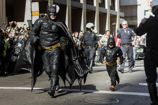 #sfbatkid - arrival at the bank!