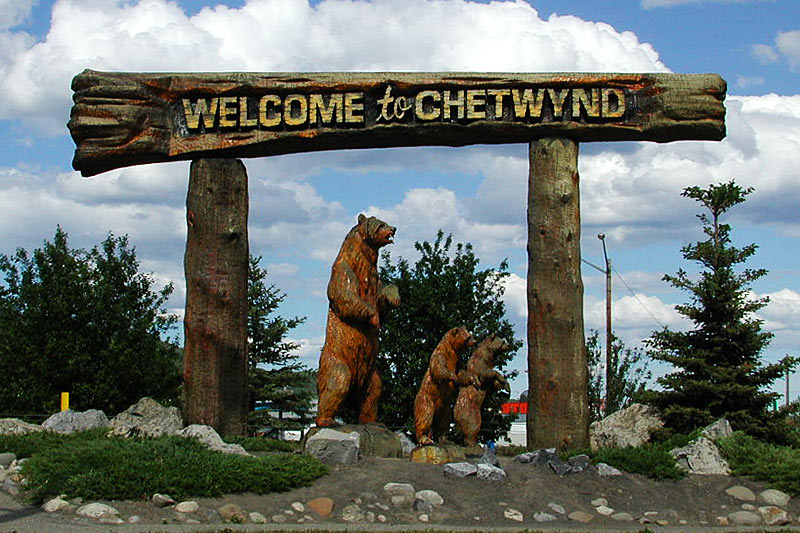 Chetwynd, Alaska Highway 97, Northern British Columbia, Canada