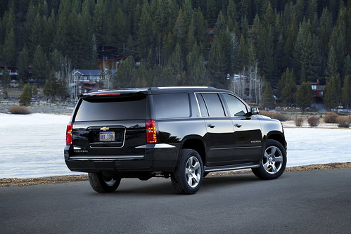 2015 Chevrolet Suburban in Black Rear Passenger Side in Lake Tahoe Photo