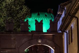 Santa severa Castle by night