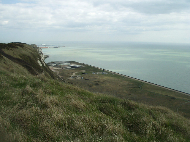 The coast between Folkestone and Dover