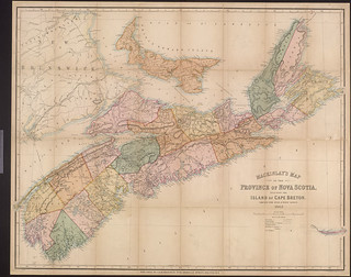 MacKinlay's map of the province of Nova Scotia, including the island of Cape Breton / Carte de MacKinlay montrant la province de la Nouvelle-Écosse, incluant l'île du Cap Breton