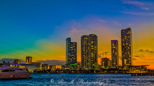sunrisesunset sunset miami miamiskyline miamidade cityscapes florida