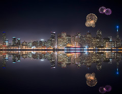 Fireworks over San Francisco skyline by Jimmy McIntyre - Editor HDR One Magazine