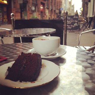 Birthday cake and coffee   by Texarchivist