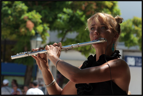 flautist in the square ... | by John FotoHouse