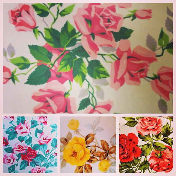 We're being petal pushers at The Vintage Laundry today! #floral #vintage #printed #linens #textiles #roses