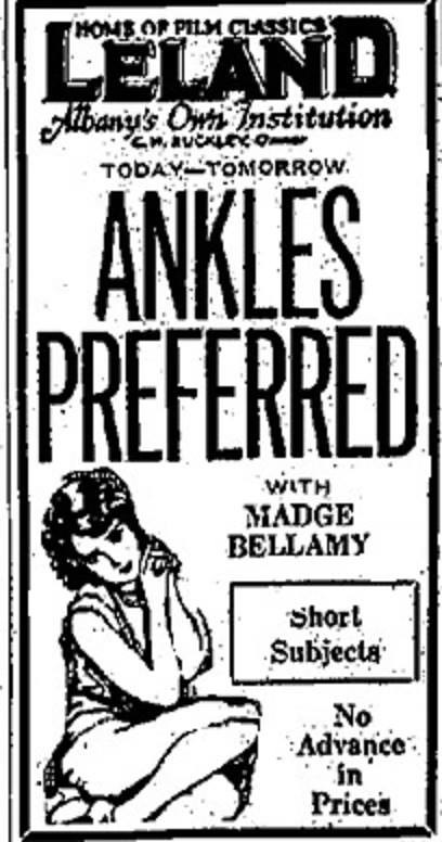 Leland Movie Theater Ankles Preferred Madge Bellamy 1927 O Flickr