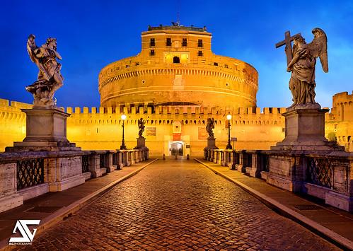 italy rome roma sunrise nikon italia ponte ag pont angelo nikkor dri hdr italie santangelo anto d800 xiii antoxiii agphotographe