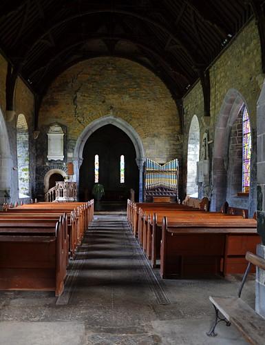 windows interior nave inside chancel anglican protestant clonfert stbrendanschurchofirelandcathedral