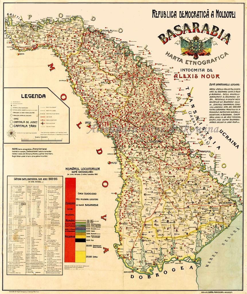 Moldova 1916 Harta Etnografică A Basarabiei Realizată De Flickr