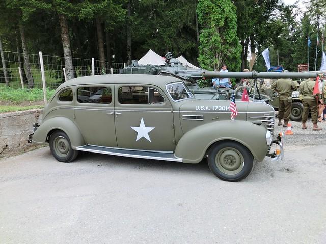 Plymouth US Army staff car side Raduno mezzi storici di San Felice Bolzano Bozen Italy 2012