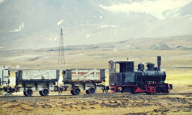 Lokomotive auf Spitzbergen