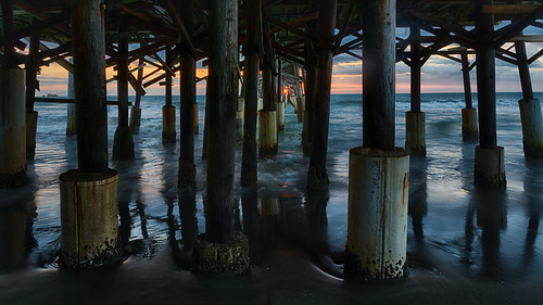 blue centralflorida cloud cocoa dawn florida landscape ocean orange reflection sky sunrise usa water yellow dock pier cocoabeach unitedstates edrosackcom