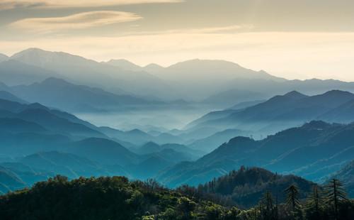 california nature pasadena mountain light landscape blue colors sunrise dawn