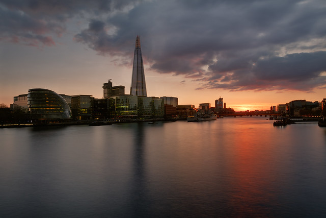 City London at dusk