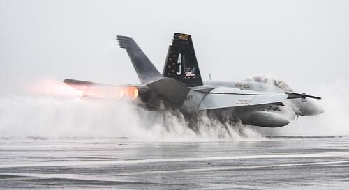 USS George H.W. Bush conducts flight operations.