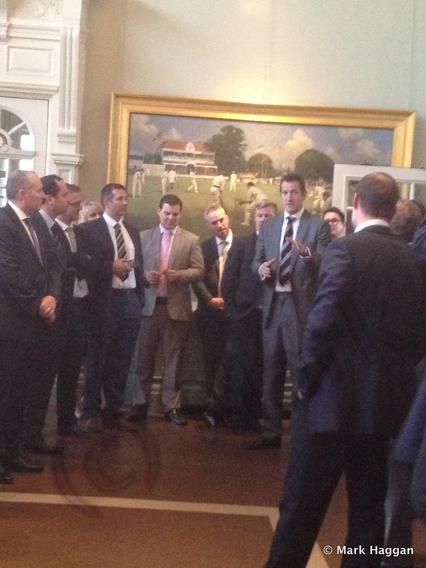 In The Long Room at Lord's