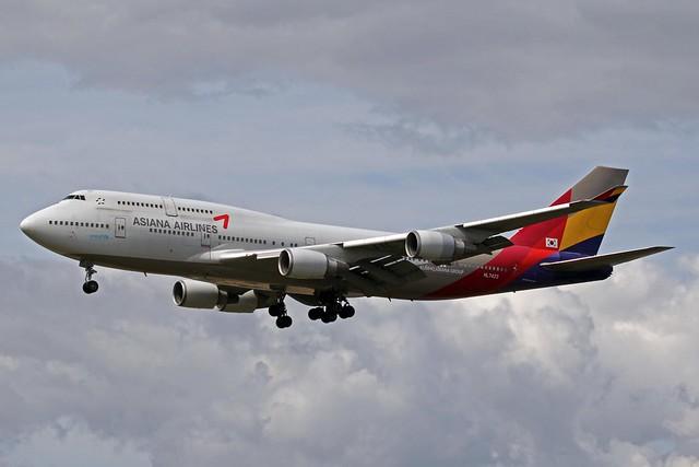 HL7423 2 Boeing 747-48E/M (SCD) Asiana Airlines FRA 29JUN13