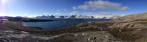 cruise panorama norway panoramic svalbard arcticcircle panoramicview kongsfjorden nylondon msexpedition gadventures polardaylight