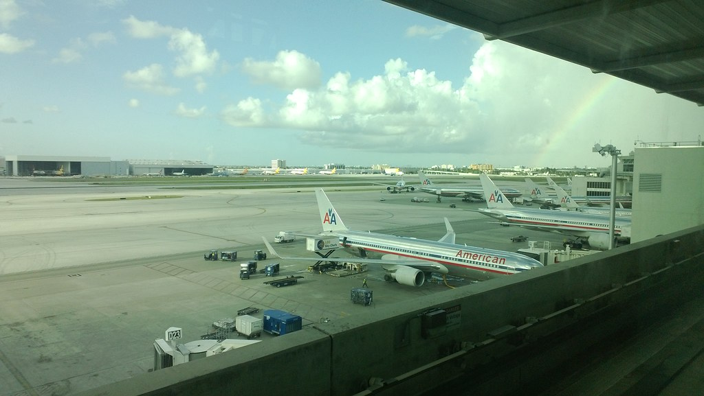 American Airlines Machines at Miami International Airport MIA