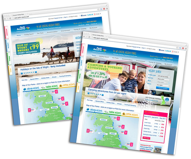 Park Resorts 2014 Holiday website (updated)