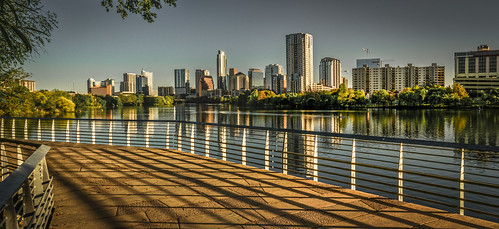austin texas dawn skyline sunrise boardwalk ladybirdlake downtown olympus