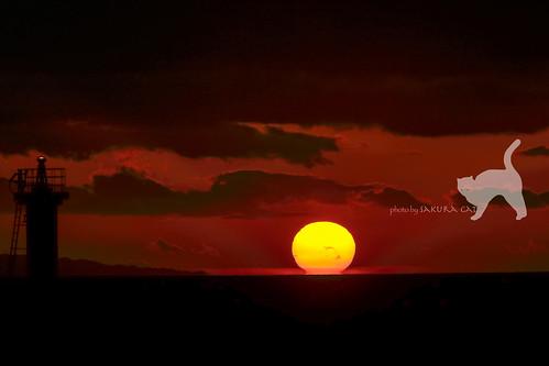 観音寺市 香川県 日本 sunset