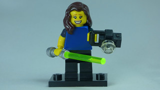 Brick Yourself Bespoke Custom Lego Figure Happy photographer with Lightsaber | by BrickManDan