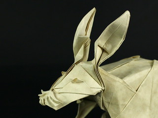 Rabbit designed and folded by Damian Malicki | by Damian Malicki Origami