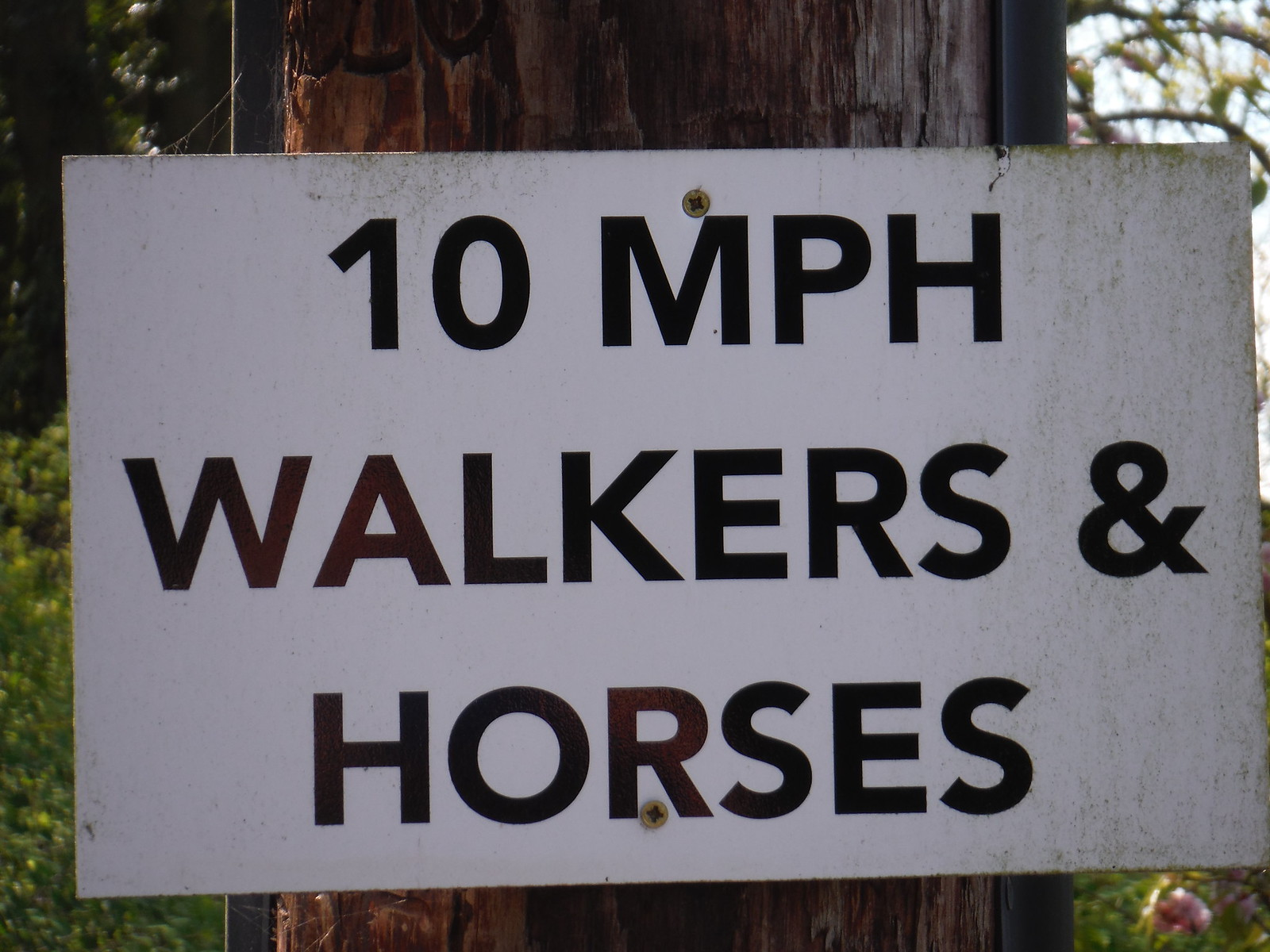Sign on Lane up to Pulpit Hill SWC Walk 10 - Little Kimble to Saunderton