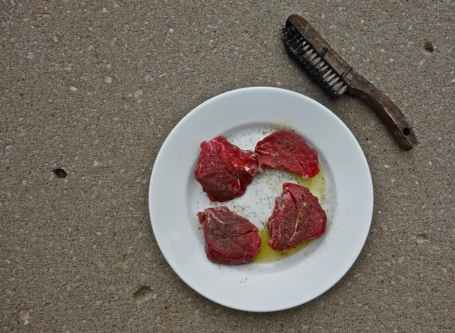 Four Filet Mignons and a Wire Brush