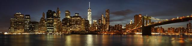 Manhattan Skyline - New York City - Panorama
