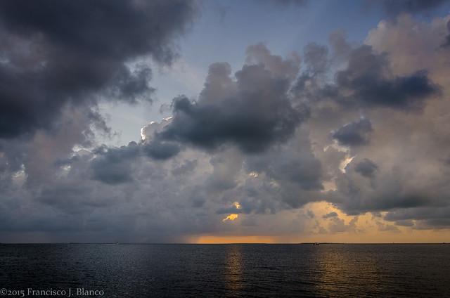 Sunset Rain Storm, Key Largo