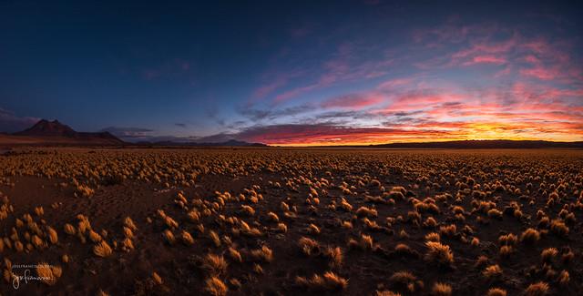 Spectacular Atamama Sunset [pano]