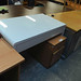 White high gloss desk E110 with drawer