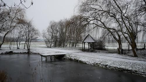 Schnee am zweiten Tag im neuen Jahr