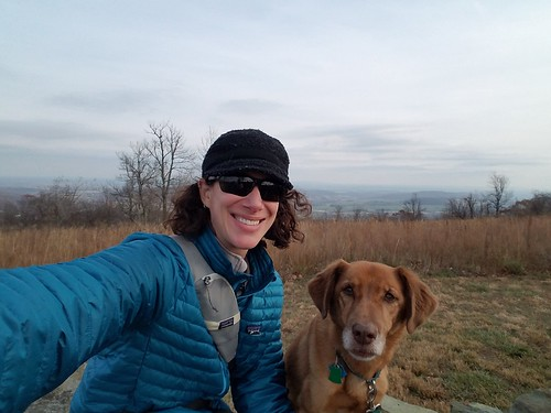 outdoor people selfie dog park skymeadowsstatepark sky skyline clouds overcast view plant tree hills mountain