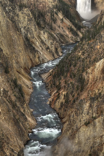 The Grand Canyon of the Yellowstone HDR   by Brandon Kopp