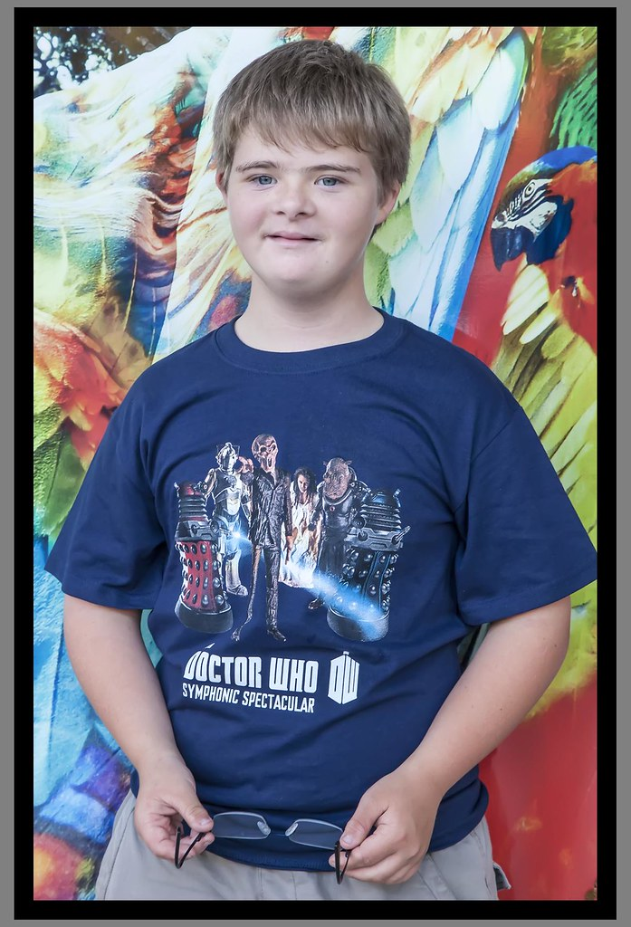 Ben and his Dr Who T shirt-1=