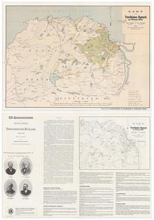 Kart over Bymarka med historikk på baksiden (1896)