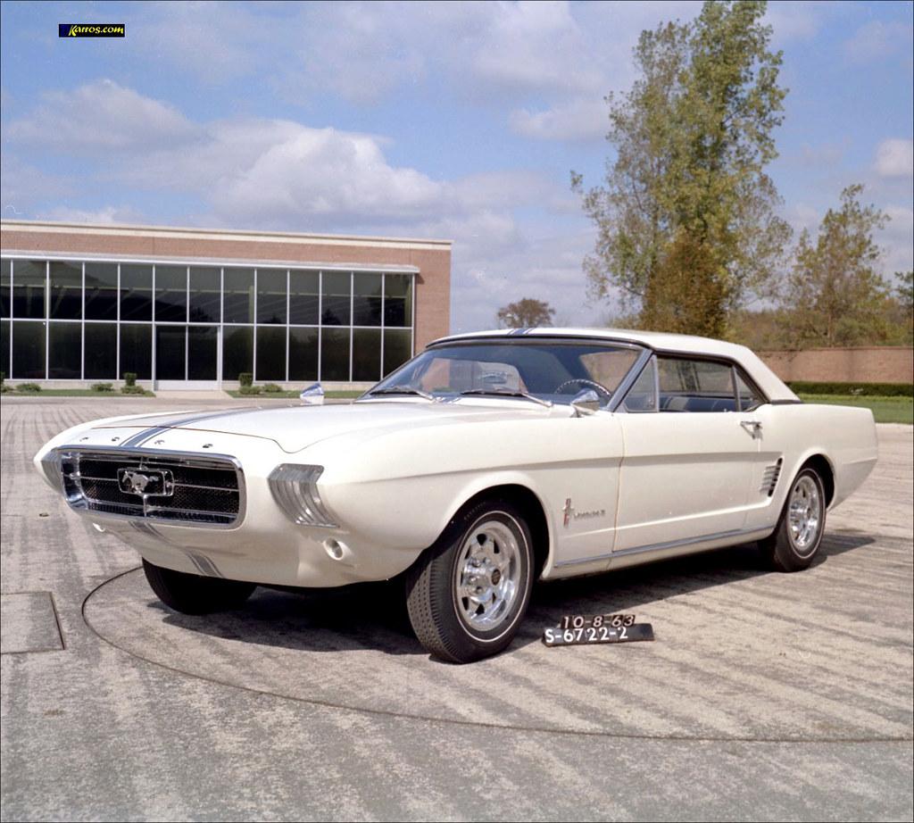 1963 White Mustang