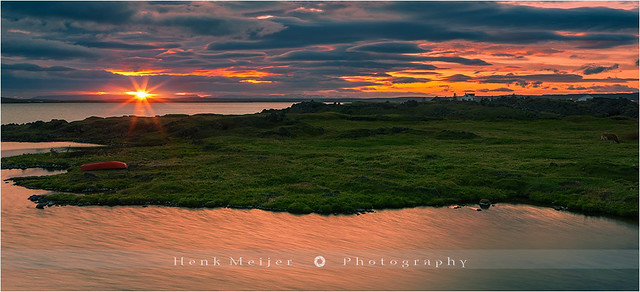 Sunset Lake Myvatn - Iceland