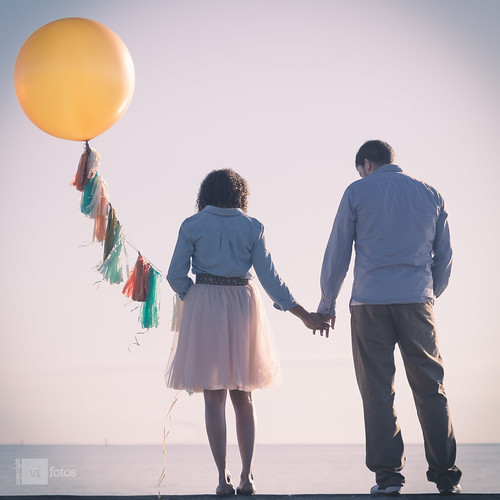 morning blue water yellow sunrise 50mm engagement nikon horizon balloon lofi flare northshorepark downtownstpetersburg d7100 fauxlofi dtsp
