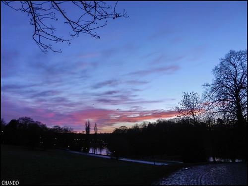 sky clouds sunrise ciel nuages aube parcdewoluwé