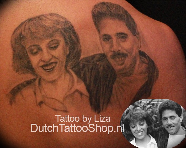 Portret Tattoo Portrait Foto Realistisch Dutch Tattoo Shop