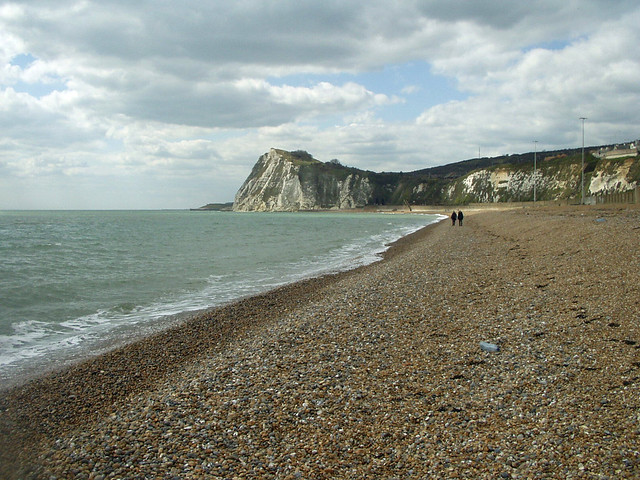 The beach west of Dover