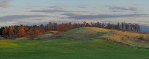 sunset panorama landscape moraine waterlooregion ontario canada panasoniclumixg85 microsoftice gimp