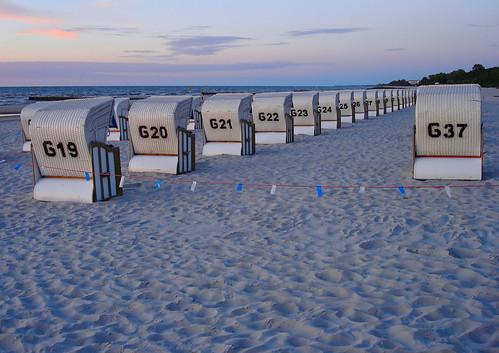 sunset sea beach strand baltic polen ostsee strandkorb pommern kolberg