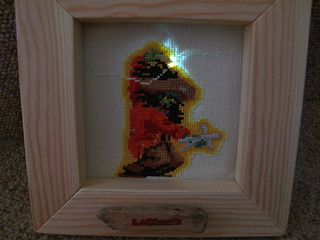 LeChuck's pin lit up as he goes for the voodoo doll of Guybrush | by lilspikey